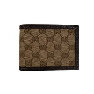 GUCCI Canvas GG Logo Bi-Fold Wallet